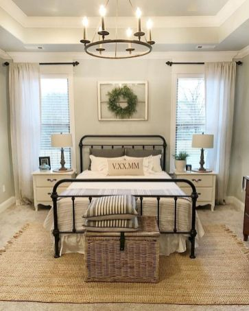 50 Modern Farmhouse Bedroom Decor Ideas Makes You Dream Beautiful In 2019 (3)