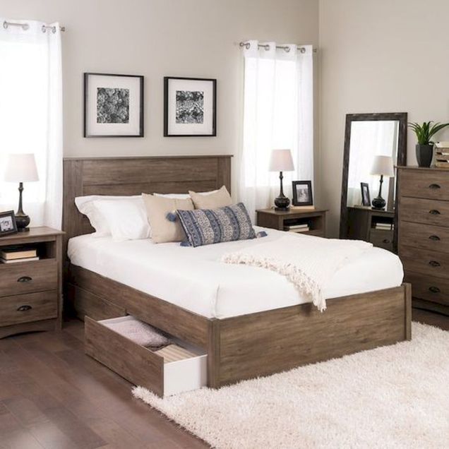 50 Modern Farmhouse Bedroom Decor Ideas Makes You Dream Beautiful In 2019 (47)
