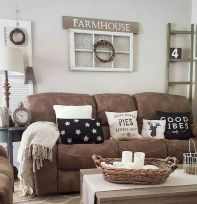 55 Incredible Farmhouse Living Room Sofa Design Ideas And Decor (16)