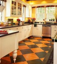 60 Awesome Farmhouse Flooring Design Ideas And Decor (33)