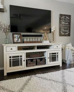 60 Beautiful Farmhouse TV Stand Design Ideas And Decor (1)