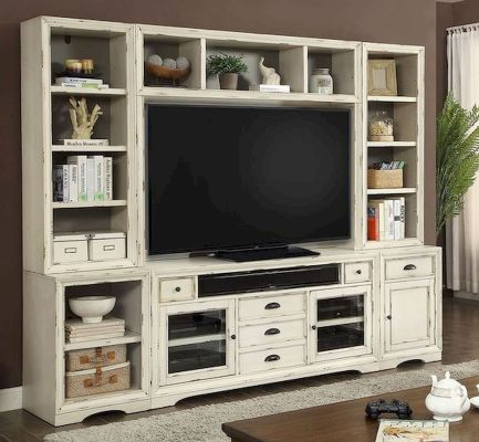 60 Beautiful Farmhouse TV Stand Design Ideas And Decor (22)