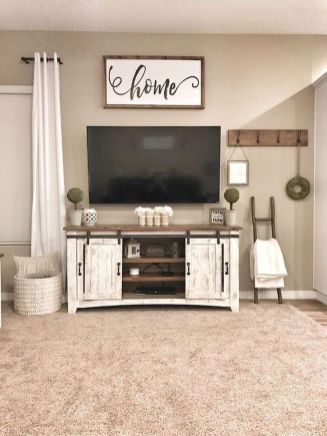 60 Beautiful Farmhouse TV Stand Design Ideas And Decor (28)