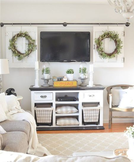 60 Beautiful Farmhouse TV Stand Design Ideas And Decor (43)