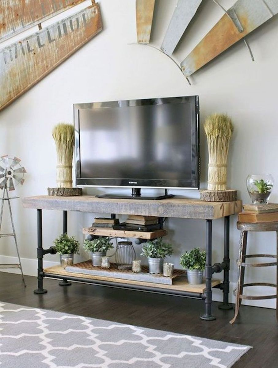 60 Beautiful Farmhouse TV Stand Design Ideas And Decor (5)