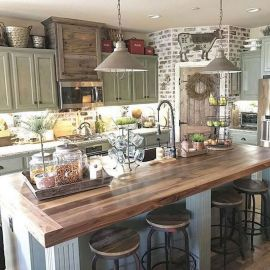 60 Great Farmhouse Kitchen Countertops Design Ideas And Decor (50)