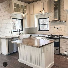 60 Great Farmhouse Kitchen Countertops Design Ideas And Decor (51)