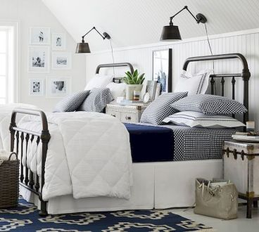 69 Best Farmhouse Bedding Decor Ideas And Remodel (43)