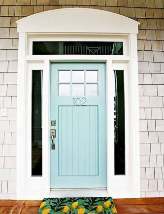 70 Beautiful Farmhouse Front Door Design Ideas And Decor (15)