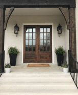 70 Beautiful Farmhouse Front Door Design Ideas And Decor (18)