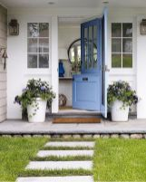 70 Beautiful Farmhouse Front Door Design Ideas And Decor (27)