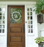 70 Beautiful Farmhouse Front Door Design Ideas And Decor (51)