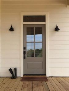 70 Beautiful Farmhouse Front Door Design Ideas And Decor (67)