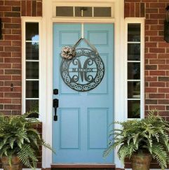 70 Beautiful Farmhouse Front Door Design Ideas And Decor (9)