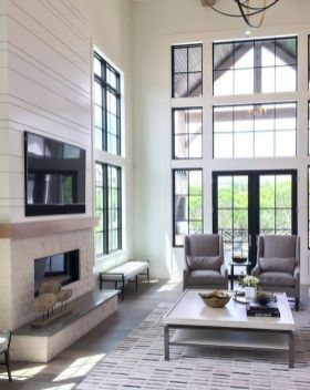 70 Best Farmhouse Living Room Decor Ideas And Remodel (61)