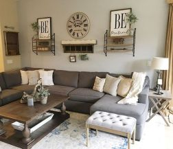70 Best Farmhouse Living Room Decor Ideas And Remodel (64)