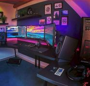 45 Fantastic Computer Gaming Room Decor Ideas and Design (10)