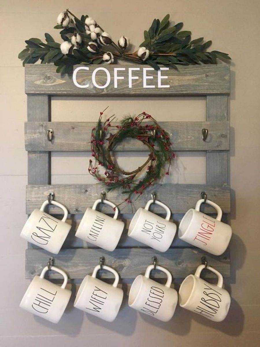 60 Suprising Mini Coffee Bar Ideas for Your Home (11)