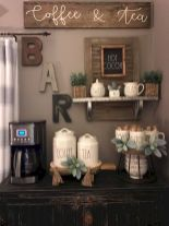 60 Suprising Mini Coffee Bar Ideas for Your Home (34)
