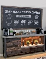 60 Suprising Mini Coffee Bar Ideas for Your Home (36)