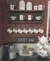 60 Suprising Mini Coffee Bar Ideas for Your Home (4)
