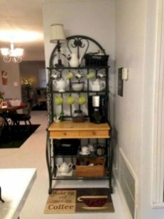 60 Suprising Mini Coffee Bar Ideas for Your Home (6)