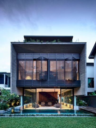 65 Stunning Modern Dream House Exterior Design Ideas (38)