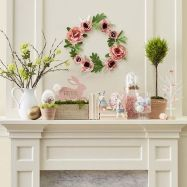 37 Beautiful Easter Fireplace Mantle Ideas (17)