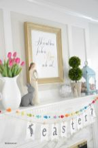 37 Beautiful Easter Fireplace Mantle Ideas (32)