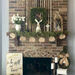 37 Beautiful Easter Fireplace Mantle Ideas (9)