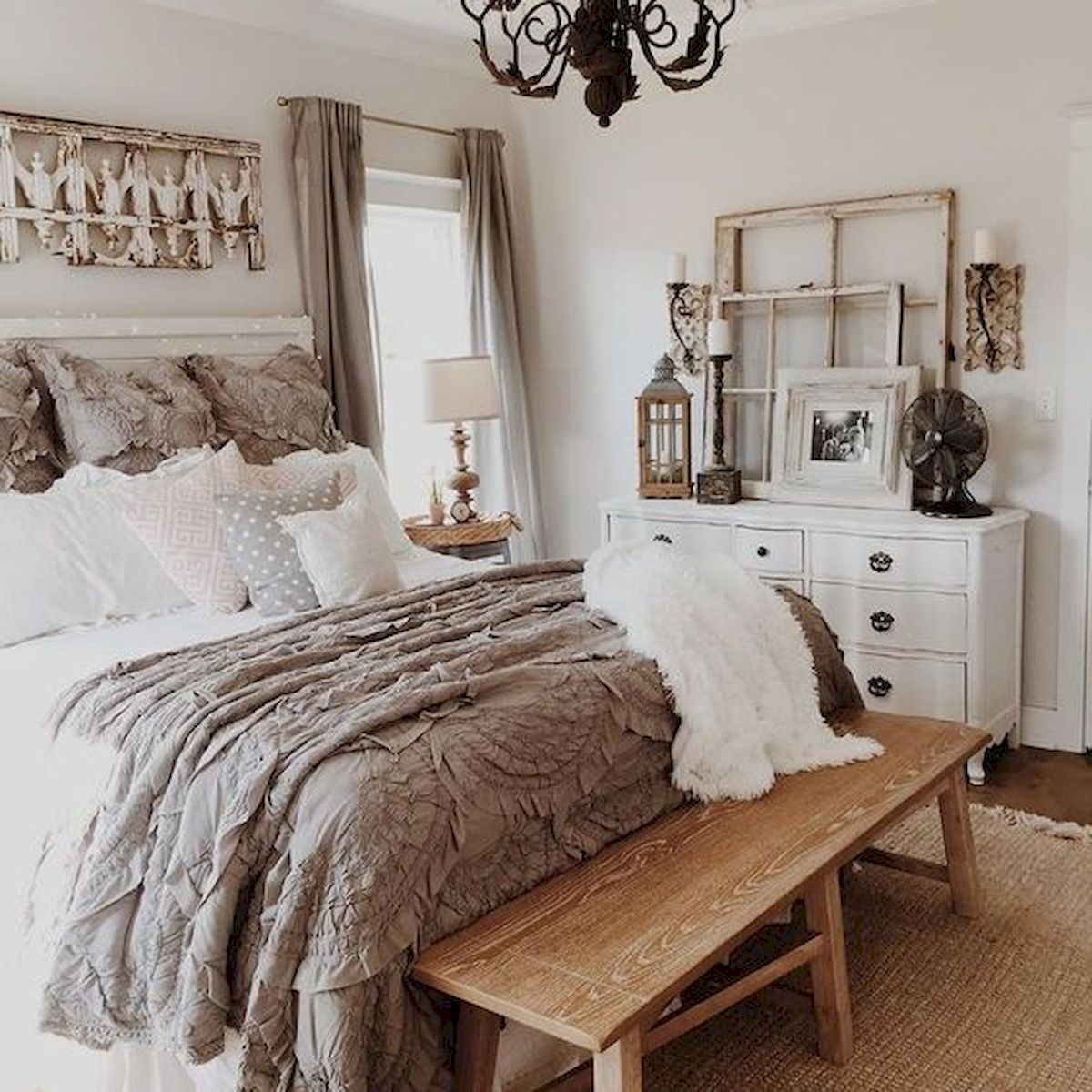 47 Most Popular Bedding for Farmhouse Bedroom Design Ideas and Decor (6)