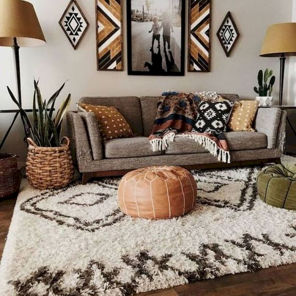 55 Bohemian Living Room Decor Ideas (45)