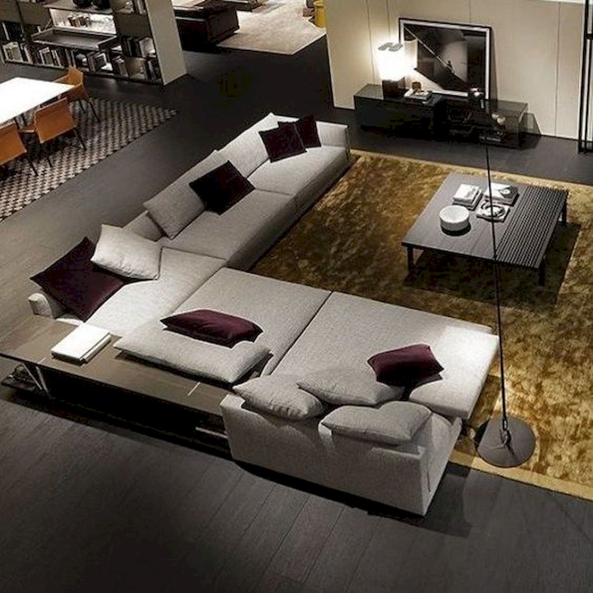 69 Contemporary Living Room Decor Ideas (37)