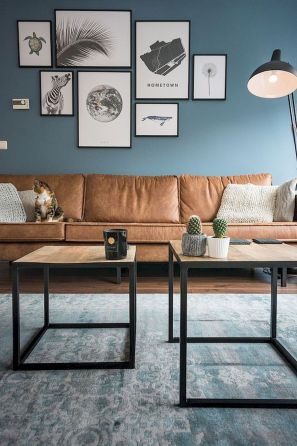72 Industrial Living Room Decor Ideas (32)