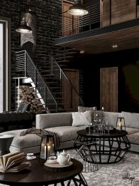 72 Industrial Living Room Decor Ideas (6)