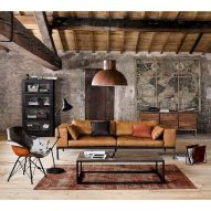 72 Industrial Living Room Decor Ideas (66)