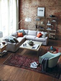 72 Industrial Living Room Decor Ideas (7)