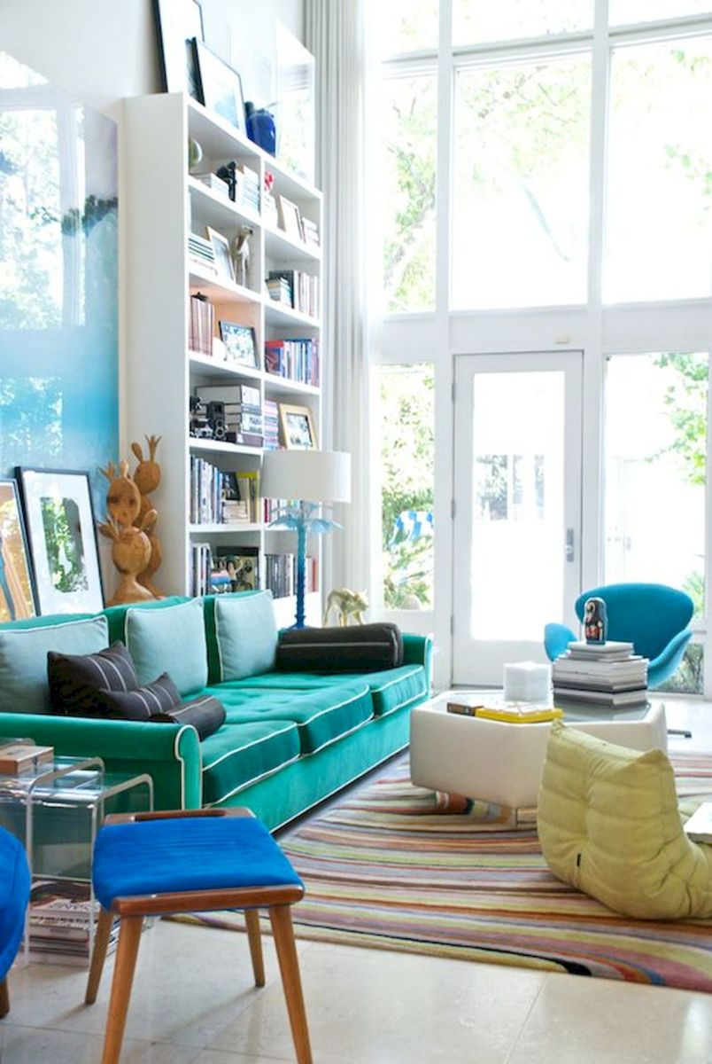 73 Eclectic Living Room Decor Ideas (47)