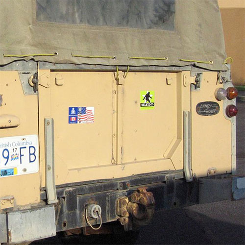 bigfoot stickers research truck