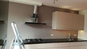 Renovatie keukenmuur