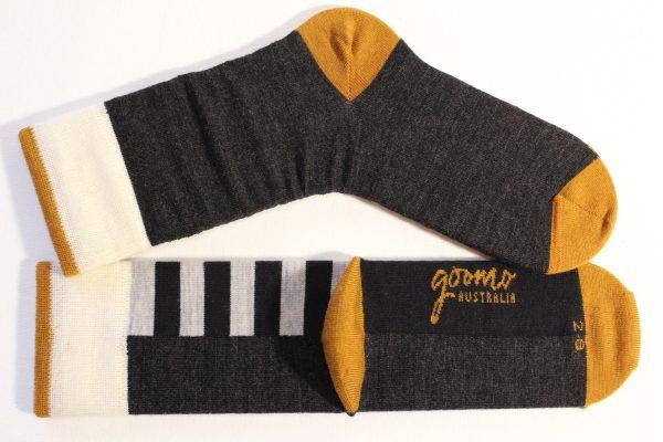 goomo.shop_navy and grey stripes, made in Australia, merino socks