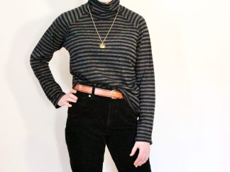 goomo.shop Apollo black and charcoal stripe turtleneck