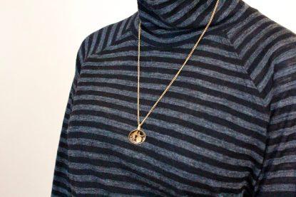 goomo.shop Apollo black and charcoal stripe turtleneck