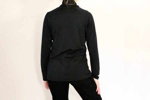 goomo.shop Apollo Black merino Turtleneck