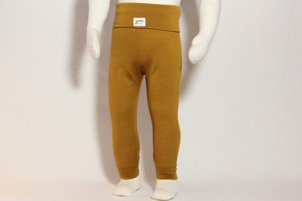 goomo.shop_merino toddler leggings ochre