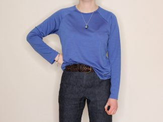 goomo.shop_long sleeve merino top cornflower blue