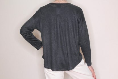 goomo.shop_pure linen long sleeve tee Steel