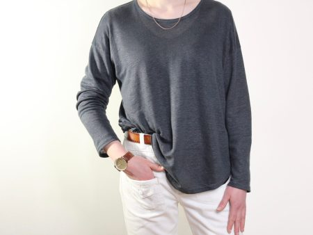 goomo.shop_steel grey linen top