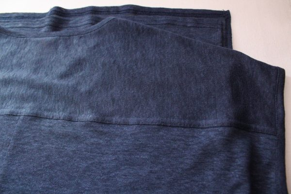 goomo.shop_pure linen Prussian blue extended shoulder tank