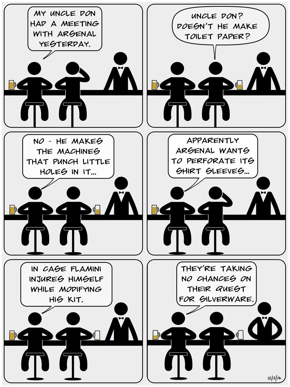 GOONBOGGLE 006 - Flamini An Arsenal comic by Batmandela